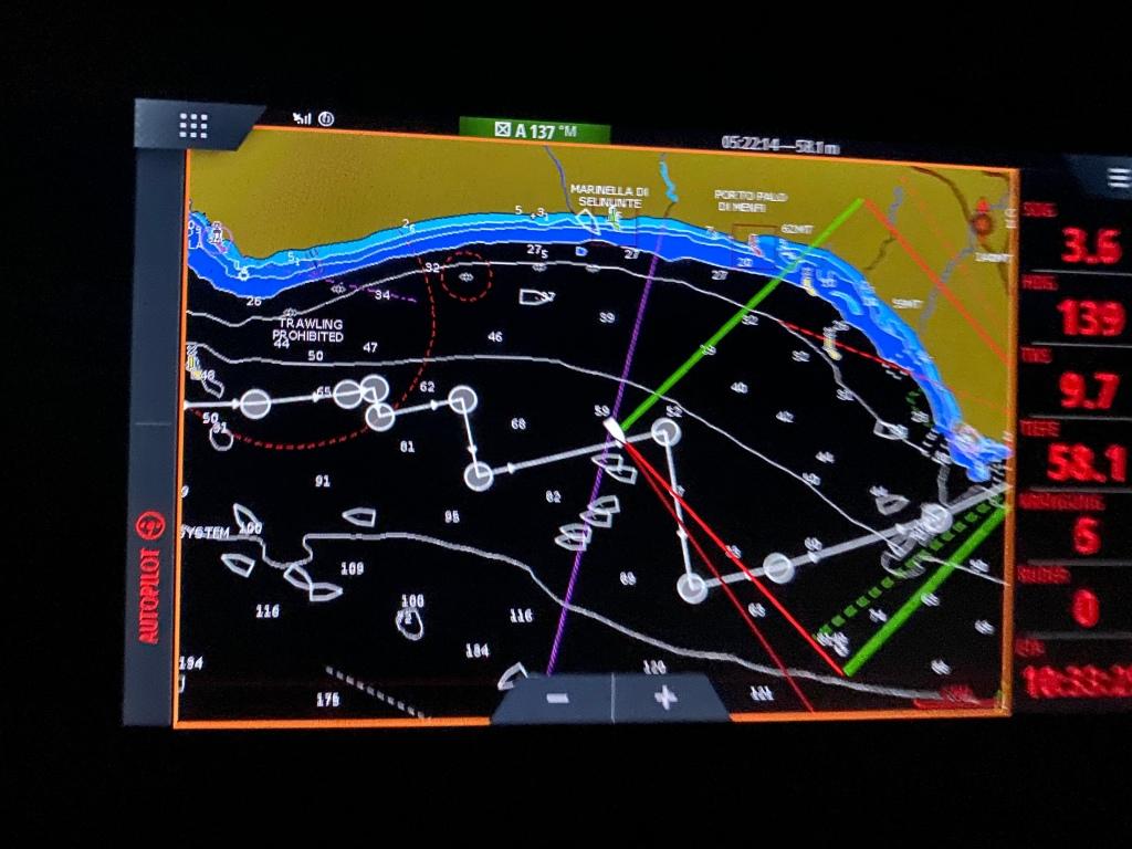 Viele Boote auf dem AIS bei Nacht