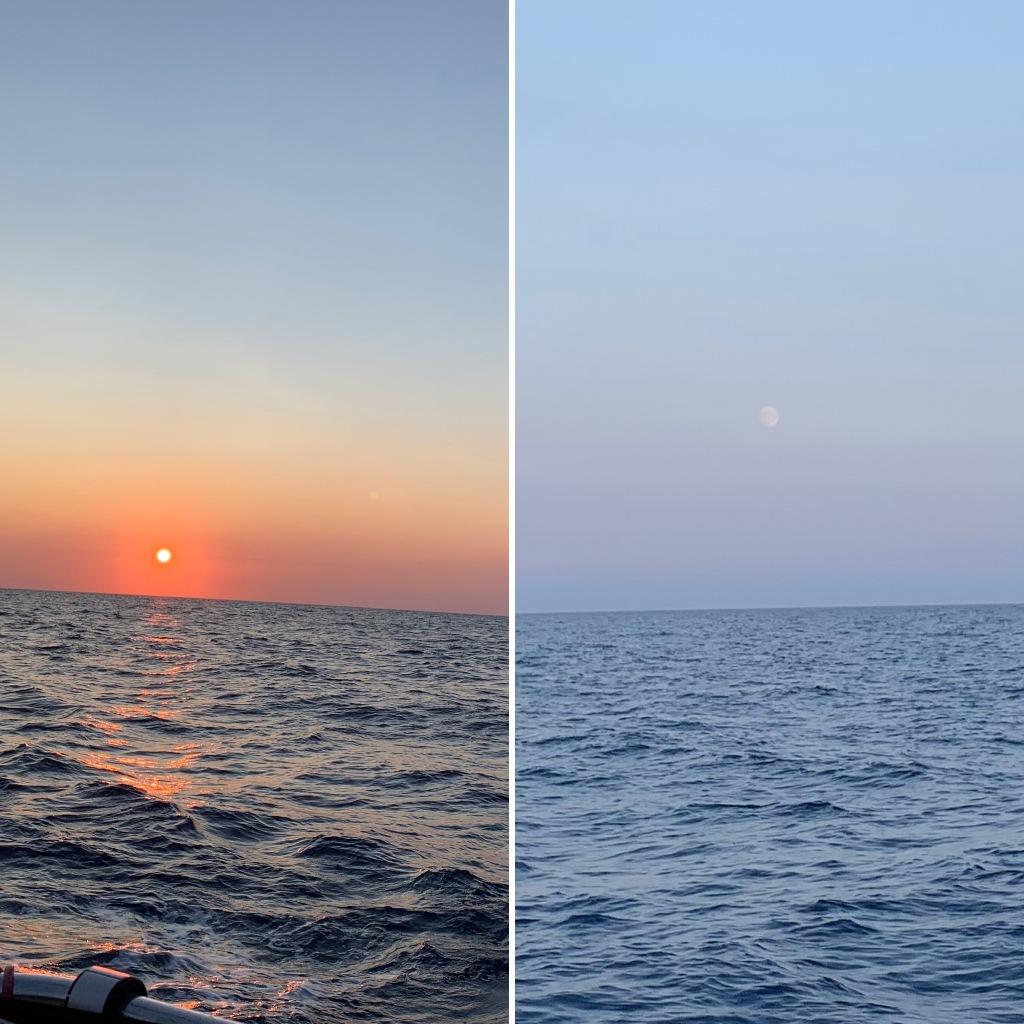 Sonne und Mond sind machmal zur gleichen Tageszeit zu sehen